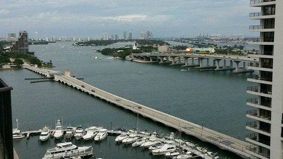 Miami Marriott Biscayne Bay: view from the room