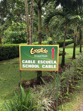 Ecoglide Arenal Park: Entrada