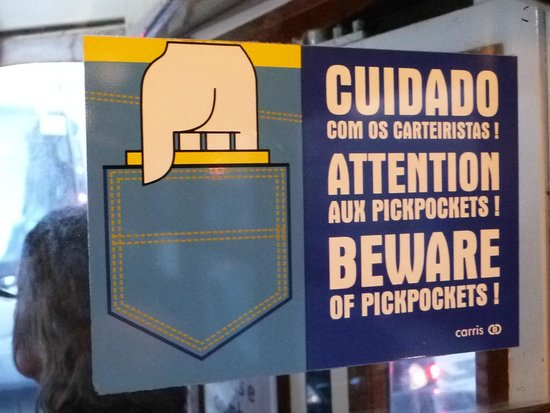 Tram 28: attention pickpockets