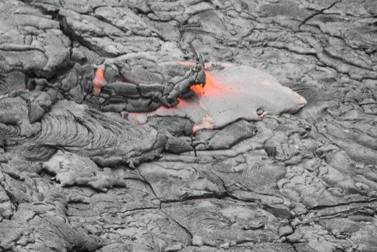Safari Helicopter Tours: molten lava turning solid