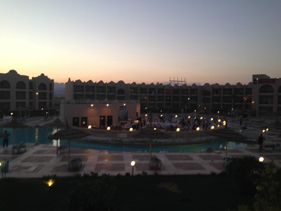 Tirana Aqua Park Resort : room view on an evening