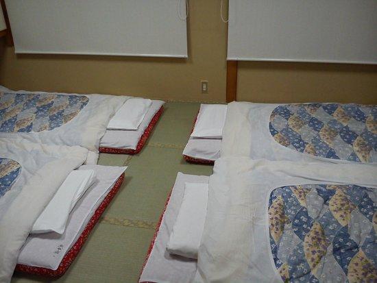 Nihonkan: traditional beds
