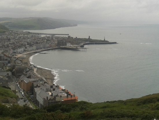 Aberystwyth Cliff Railway: Brilliant views from the top of the cliff railway