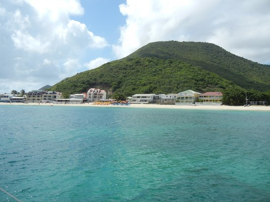 St Martin Catamarans Charters: A view of Grand Case from the cataraman