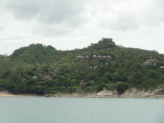 Santhiya Koh Phangan Resort & Spa : view from the speedboat