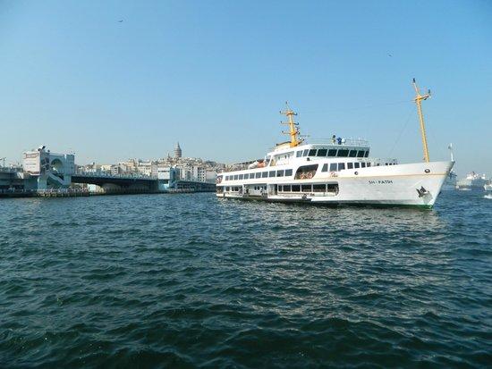 Bosphorus Strait: battello comunale sul bosforo