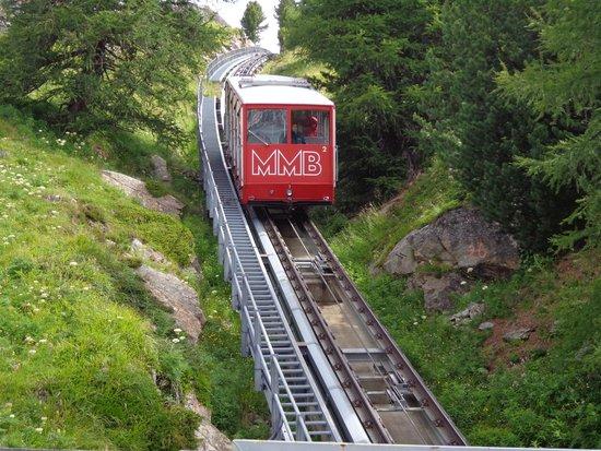 Muottas Muragl : Trenino a cremagliera
