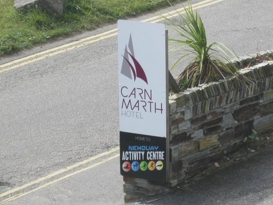 Newquay Activity Centre: Parking and a meal available in the hotel next door - Carnmarth