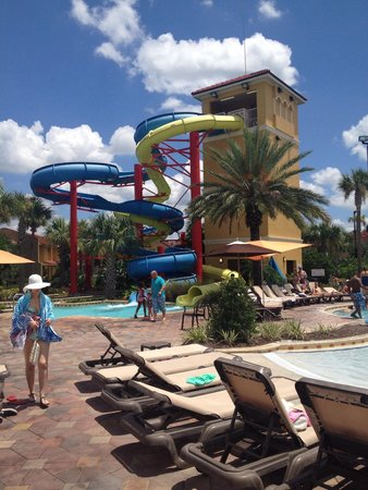 Vacation Villas at Fantasy World I: Water slides. Yellow is faster...watch out!!