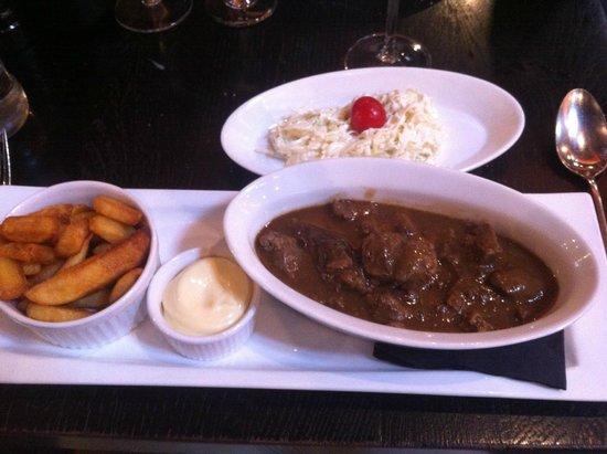 Brasserie Appelmans : Antwerp Stew (braised in beer)