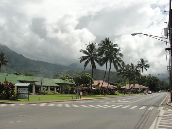 On our way to Hanalei Beach.. Hanalei Town also a must to go to