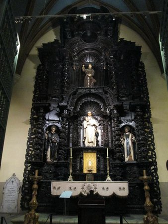 Cathedral of Lima: painel de madeira negra
