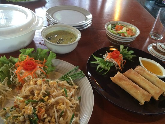 Da's Organic Farm Hut Thai Cooking School: It tasted as good as it looks. All the better as I know I'd cooked it!