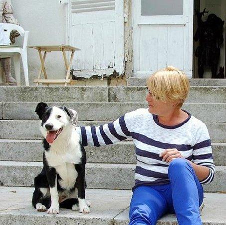 Maillet, France: Uw gastvrouw met  Luna