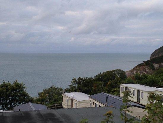 Sandaway Beach Holiday Park: View from caravan window