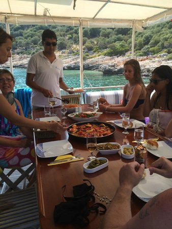 Boat Trips by Captain Ergun : Lunch