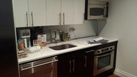 AKA Times Square: Small kitchen