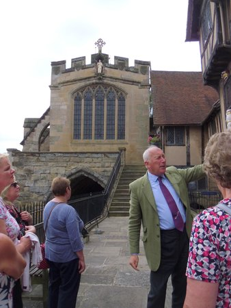 "Lord Leycester Hospital: ""The Master""  Malcom Our Guide"