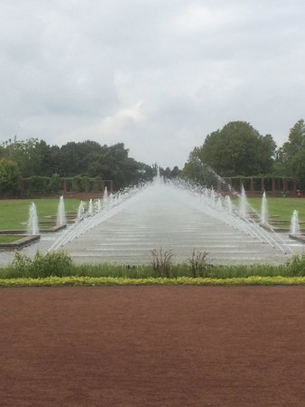 Nordpark: Beautiful water fountains