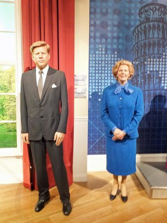 Madame Tussauds London: John Kennedy e Margaret Thatcher