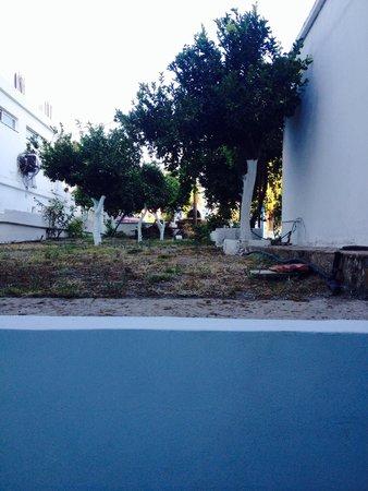 Manos Hotel: Blick vom Balkon