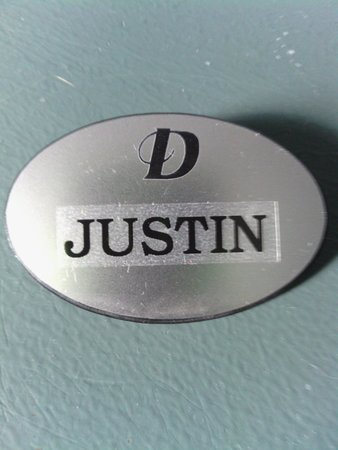 Drury Inn & Suites Cincinnati Sharonville: My Name Tag They Gave Me For My Birthday
