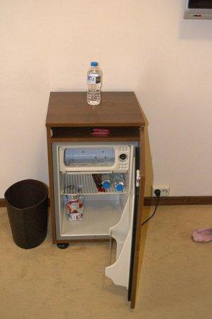 Golden Sun Hotel: Холодильник-тумба с нашими покупками