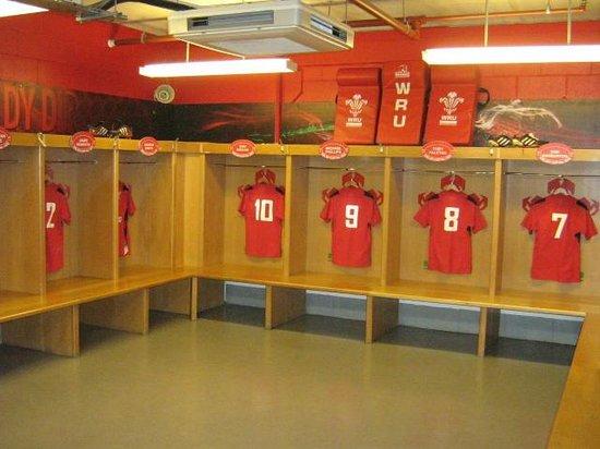 Principality Stadium: home changing room