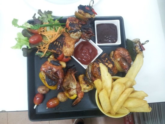 The Corner Restaurant: grilled mixed seafood