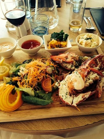 Azur at The Marina Pavilion: my lobster is served