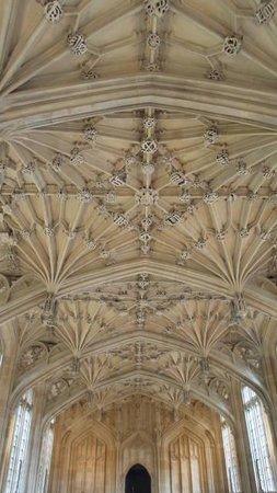 Bodleian Library: teto e brasões