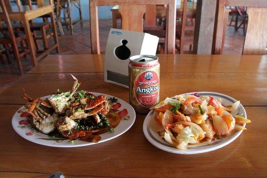 Kep Crab Market: Crab and Prawn dishes