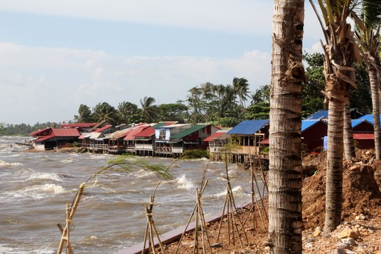 Kep Crab Market: View from the road