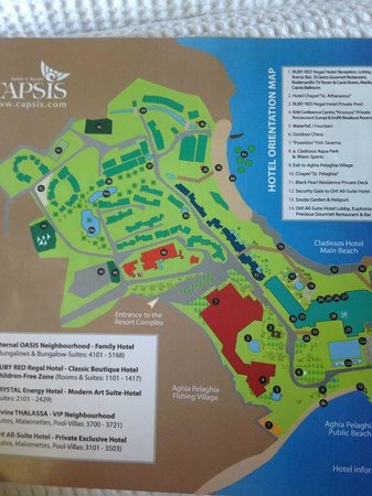 Out of the Blue Capsis Elite Resort : map