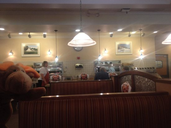 Bob Evans: Diner and where the waitress picks up the food from the kitchen