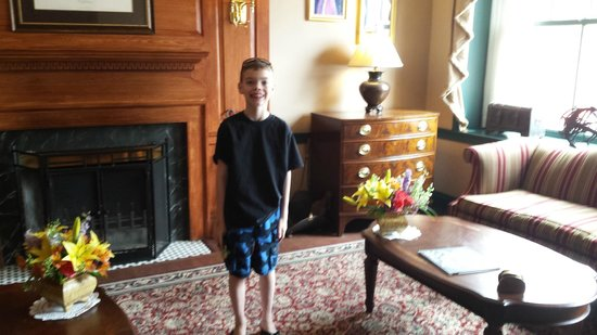 Andrew in the lobby at the Admiral Fell Inn enjoyed his stay!