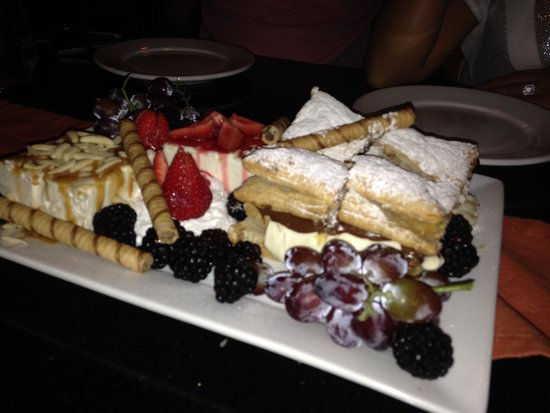 Mangia Italiano The Usual Place: What an incredible dessert platter