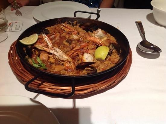 Best Western Hotel Master: ottima paella de pescado