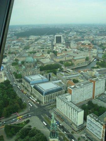 Radisson Blu Hotel, Berlin: Hotel from Alexanderplatz Tower
