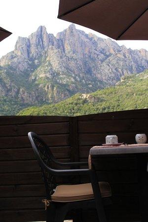 Hotel Bella Vista : Vue de la terrasse petit déjeuner
