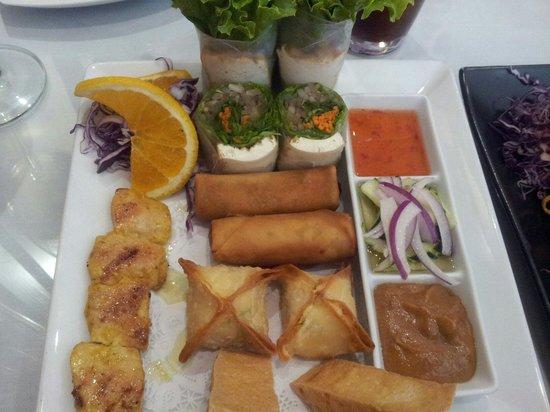 Aiyara Thai Cuisine: Sampler plate. Delish