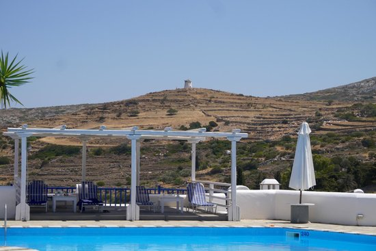 Lefkes Village Hotel: View of a windmill from the hotel