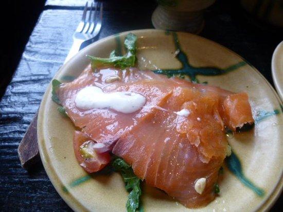 Knappogue Castle: salmon appetizer