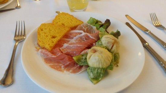 Hotel Majestic: Ottimo piatto di prosciutto e fichi