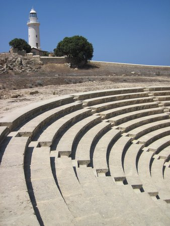 Kato Paphos Archaeological Park: Lighthouse and Roman 'Odeon'.