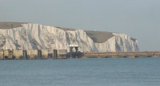 White Cliffs of Dover: La scogliera vista dal traghetto
