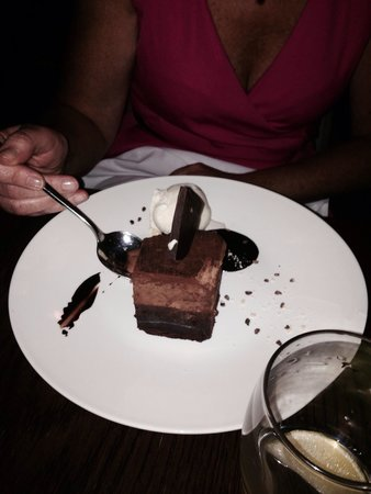 The Electric: Triple choc brownie