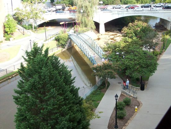 Hampton Inn & Suites Greenville - Downtown - Riverplace: View from our room