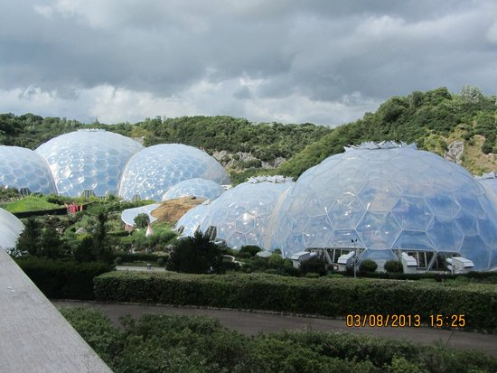 Eden Project: View of the domes