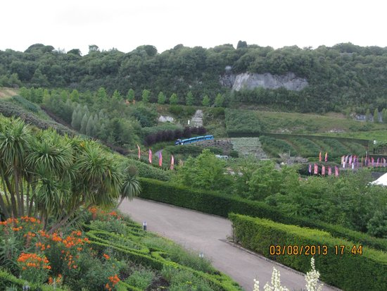 Eden Project: View of the surrounding gardens